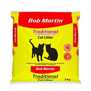 BobMartinTraditionalMineralCatLitter5kg.Front