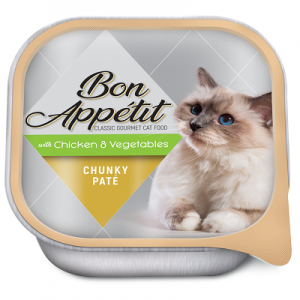 BON APPETIT CHUNKY PATE WITH CHICKEN & VEGETABLES 16 X 100G