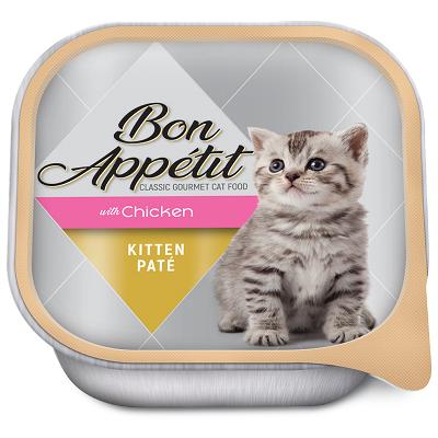 BON APPETIT KITTEN PATE WITH CHICKEN 16 X 100G