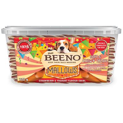 BEENO Mallows Tub Strawberry & Yoghurt Flavour Swirl